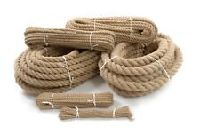 Jute Rope Natural Twisted Braided Decking Garden Boating Sash 6mm - 40mm