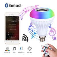12W/18W LED RGB Sans fil Haut-parleur Bluetooth Ampoule Lampe de musique Éloigné
