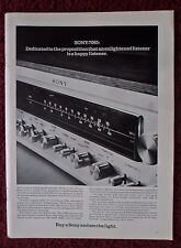 1973 Print Ad SONY 7065 AM/FM Stereo Receiver Tuner ~ Buy A Sony & See The Light