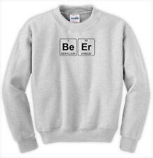 Beer Element Humor Funny Chemistry Periodic Table Unisex Jumper Sweatshirt Top