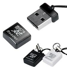 MINI Super Speed USB 2.0 Micro SD/SDXC TF Card Reader Adapter BK E F