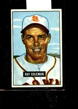 1951 BOWMAN #136 RAY COLEMAN BROWNS EXMINT E01500