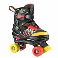 Hikole Adjustable Roller Skates for Girls Boys Kids Triple Lock Mesh Breathab...