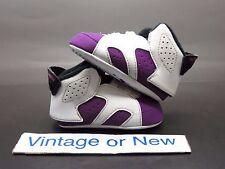 Girls Nike Air Jordan VI 6 Vivid Pink Purple Retro Crib GT 2014 sz 3C