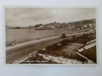 Dunoon East Esplanade & Pier Bus Vintage RP Real Photograph Postcard Valentine's
