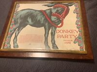 CUSTOM FRAMED SAALFIELD 1926 MUSLIM CLOTH PIN TAIL DONKEY GAME ARTWORK STUNNING