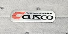 JDM Cuzco progressive equipment brushed aluminum car badge emblem decal sticker