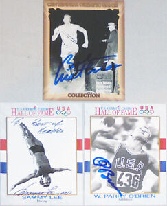 -Rare- 1990's -Olympics- Deceased Certified Signed/Autograph/Auto Card Lot