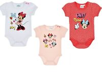 Disney Minnie Baby Girls Body Play Jump Suit Rompers Baby Grow Newborn-24 months