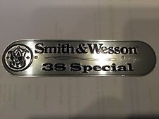 NICE SMITH WESSON 38 Special TIN Aluminum SIGN Gun Plaque Bullet Ammo Tag PISTOL