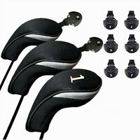 Golf Club Head Covers Headcovers Protect 1 3 5 Wood Driver Hybrid Long Neck US