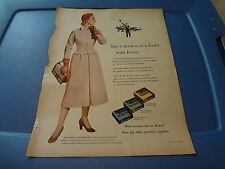 "1953 Kotex Vintage Magazine Ad ""Not a shadow of a doubt with Kotex"""
