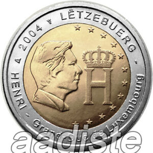 2 EURO 2004 LUSSEMBURGO LUXEMBURG LUXEMBOURG - GRANDUCA HENRI - FDC UNC