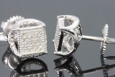 .10 CARAT WHITE GOLD FINISH MENS WOMENS 5 mm 100% REAL DIAMONDS EARRINGS STUDS