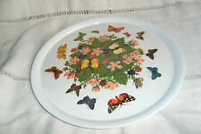 A LARGE BEAUTIFUL BUTTERFLY PRAESIDIUM ORNAMIN TRAY,30.5 cm,minor resting marks