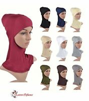 NEW HEAD CHEST NECK NINJA UNDER HIJAB SCARF HAIR COVER BONNET BONE SLIP ON CAP