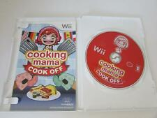 NINTENDO WII VIDEO GAME--COOKING MAMA COOK OFF-- DISC MANUAL CASE