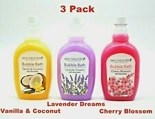 Spa Naturals Bubble Bath 24 oz With Shea Butter 3PC (3 Scent Choice) Made In USA