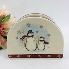 Royal Seasons Stoneware Snowman Napkin Holder Retired Patter Christmas Winter