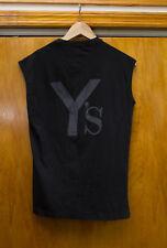 Yohji Yamamoto Y's Logo Black Tank Top Vintage