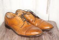Allen Edmonds Colton Brown Leather Oxford 9.5 9 1/2 E Men's Shoes