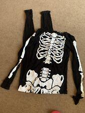 Boohoo Skeleton Body Stocking Size 12