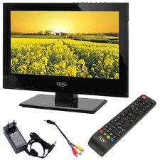 Camping LED TV Fernseher Xoro PTL 1330 DVB-T2 DVB-S USB mobil Betrieb 12 V 230 V