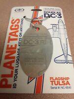 Douglas DC-3 American Airlines Flagship Tulsa Plane Tag / Planetags - Free Ship