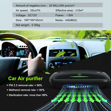 Air Purifier for car True Hepa Air Cleaner Filter Smoke Odor Ionizer Freshener