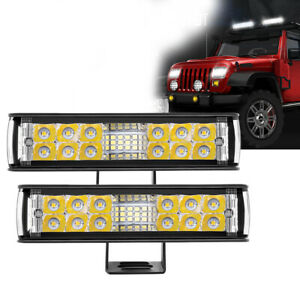 2X 7 Inch 680W LED Work Light Bar Spot Flood Combo Offroad Driving Fog Lamp SUV