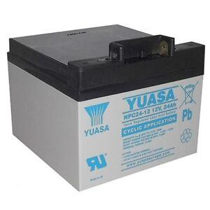 YUASA NPC24-12, 24Ah-12V AGM/GEL GOLF TROLLEY BATTERY (27 Holes) POWAKADDY CARTS