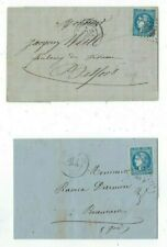 Two 1871 France FL's with Imperforate Four Margin 20c Ceres, Domestic Usage