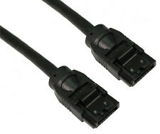 LONG SATA 3 6GB SATA Plug Cable Lead 90cm + lock Data  .9 Metre Black Internal