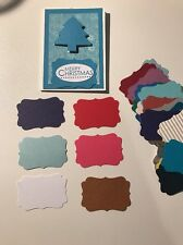 """Scrapbooking Die cuts Punch  Mixed """" Stampin Up Label  """" X 30 3.5 X 4.5cm"""