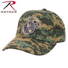 USMC Globe & Anchor Low Profile Insignia Cap Woodland Digital Baseball Hat 98827