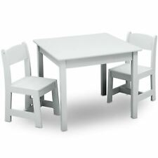 Delta Children Classic Kids Table and Chair Set, Bianca White