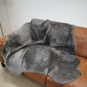 4.3'x4.6' Fluffy Mat Australian Sheepskin Rug Natural Fur Curly Quilt Carpet