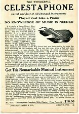 1927 small Print Ad of The Wonderful Celestaphone played just like a piano