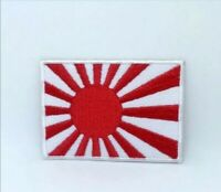 Japanese Rising Sun flag Embroidered Iron on Sew on Patch j1365