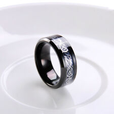8mm Band Men's Celtic Dragon Tungsten Carbide Ring Fashion Jewelry #7 8 9 10