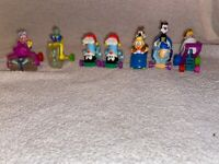 Lot Of 7 Tiny Toons & Animaniacs - Mcdonalds Flip Cars Figures Happy Meal Toys