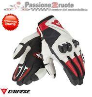 Guanti pelle moto Dainese Mig C2 nero bianco rosso 1815688 A66