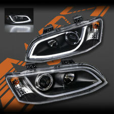 Black LED 3D DRL Head Lights for Holden Series 2 VE Commodore SV6 SV8 SS-V Omega
