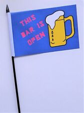 This Bar Is Open Small Hand Waving Flag