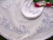 Ready to embroider Dressing Table Chewal Set CRINOLINE LADY CSOO26