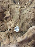 Stunning `Pear shaped diamond` pendant