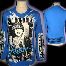 X RAY SPEX 100% unique Punk à Manches Longues T Shirt Medium Bad Clown Clothing