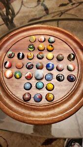 "Lot Of 33 Vintage Marbl Marbles 5/8"" Player Size Assot. Companies V33"