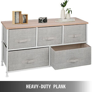 5-Drawer Storage Organizer Unit with Fabric Bins Bedroom  Free 2-day delivery