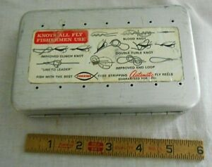 Vintage Perrine #97 Aluminum Fly Fishing Box with Nice Selection of 80 Flies